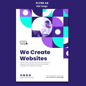 We create websites flyer template