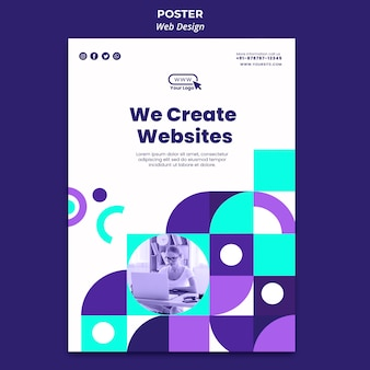 We create websites poster template