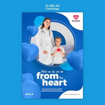 Lo facciamo dal modello di volantino del cuore