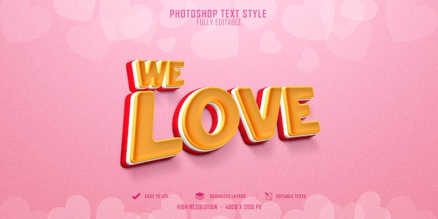 We love 3d text style effect template design