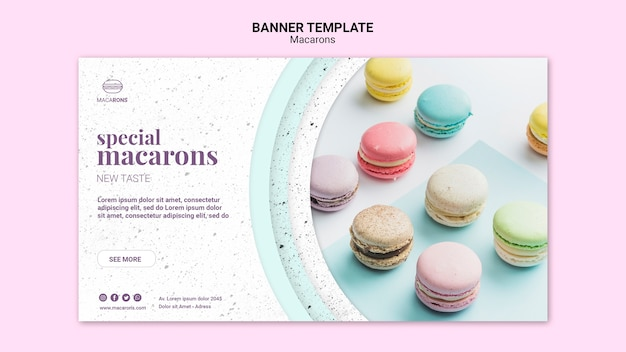 We love macarons banner template