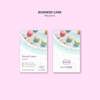 We love macarons business card template