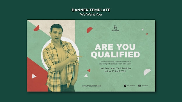 We want you banner template