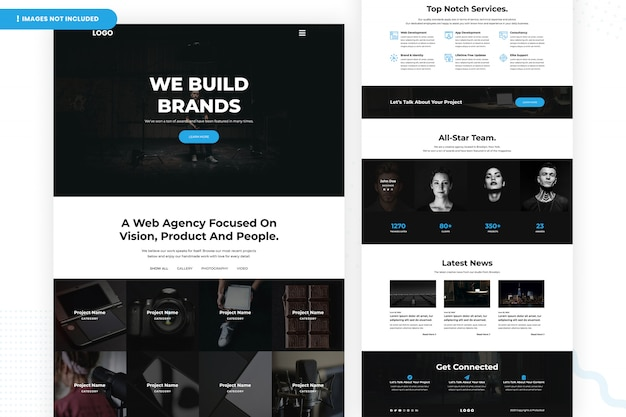 Web agency focused on vision website page design