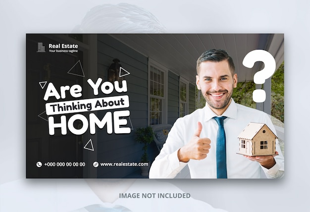 Web banner template design for real estate business