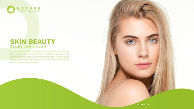 Web banner template with beauty concept