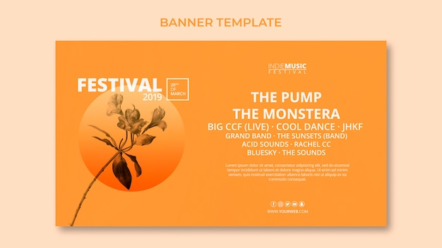 Web banner template with spring festival concept