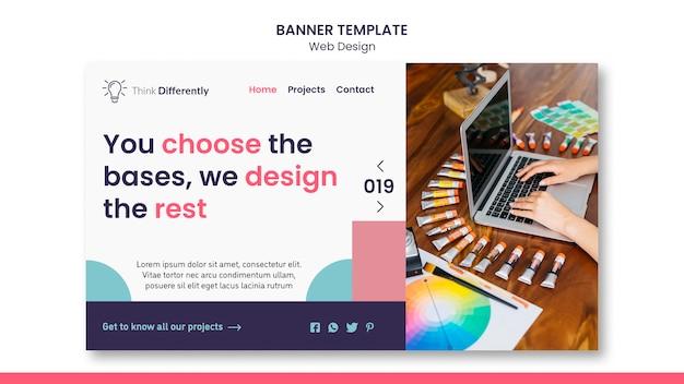 Шаблон баннера концепции веб-дизайна