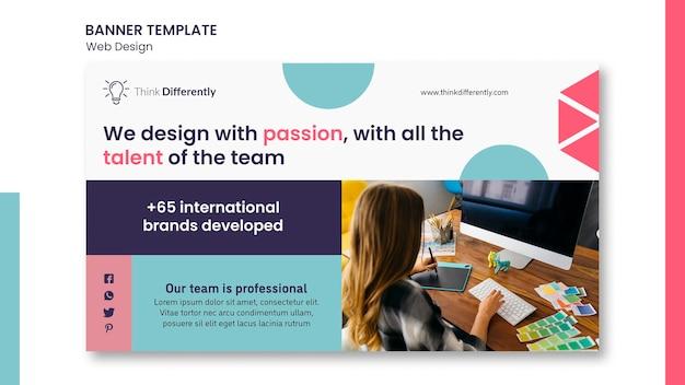 Web design concept banner template
