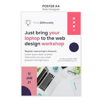 Modello di poster di concetto di web design