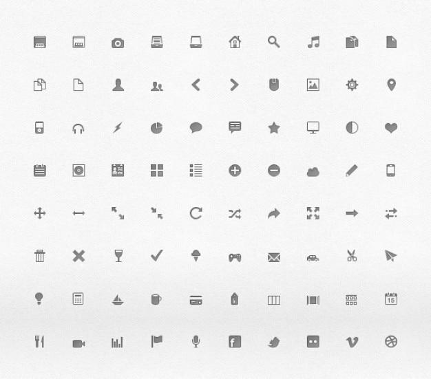 Web design pixel icons
