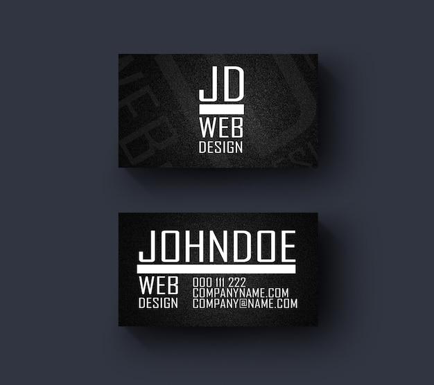 웹 디자이너 명함