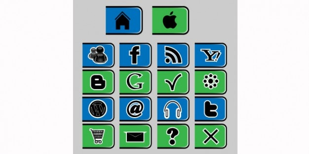 Web icons collection psd