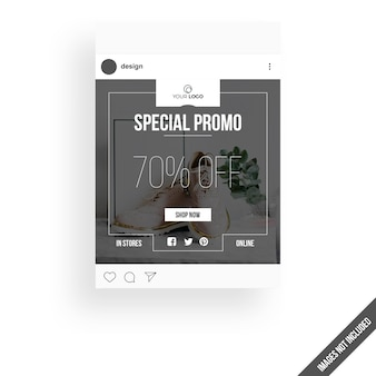 Web posting mockup with sale concept
