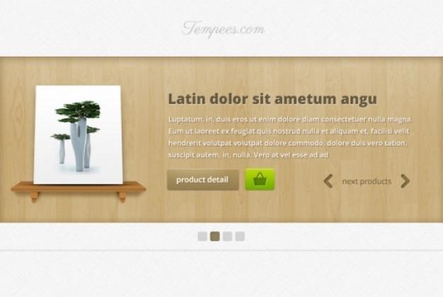 Web slider with wood