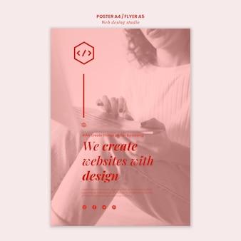 Modello di volantino di progettazione di studio web