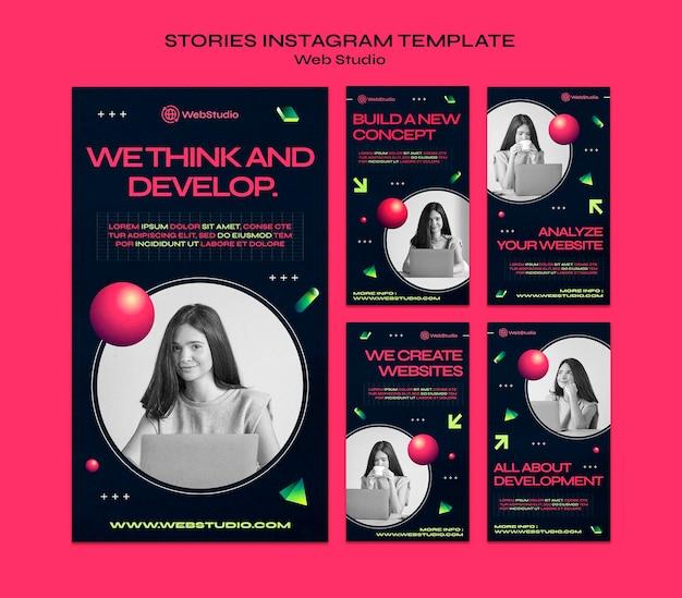 Web studio social media stories