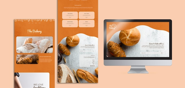 Web template for bakery company