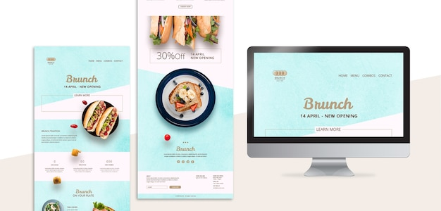 Web template for brunch