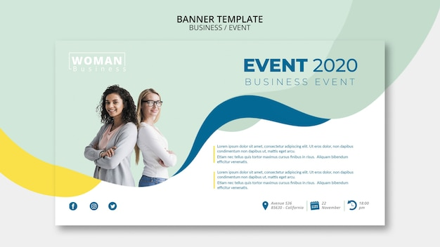 Web template for business event