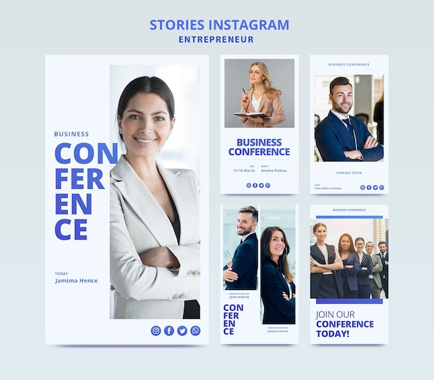 Web template for business instagram stories
