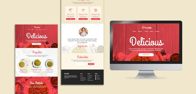 Web template for restaurant