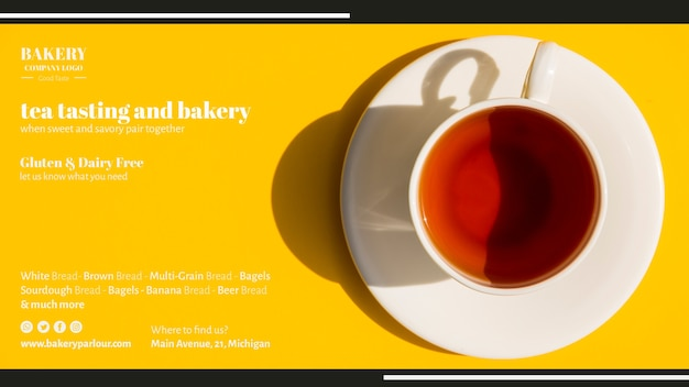 Web template for tea business