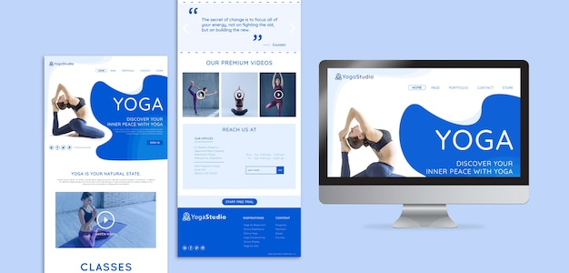Web template for yoga fitness