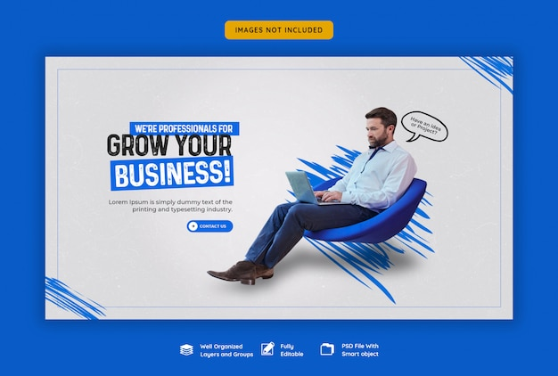 ビジネスプロモーションと企業のwebバナーテンプレート