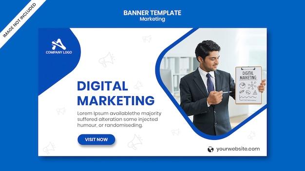 デジタルビジネスマーケティングソーシャルメディアポスト&webバナー