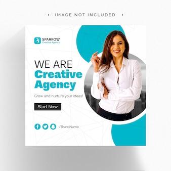 創造的なビジネスwebソーシャルメディアバナー