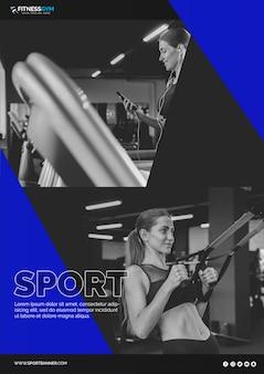 スポーツコンセプトのwebバナーテンプレート