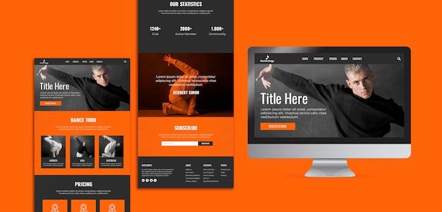 スクリーン付きのさまざまなwebおよび印刷可能なテンプレート