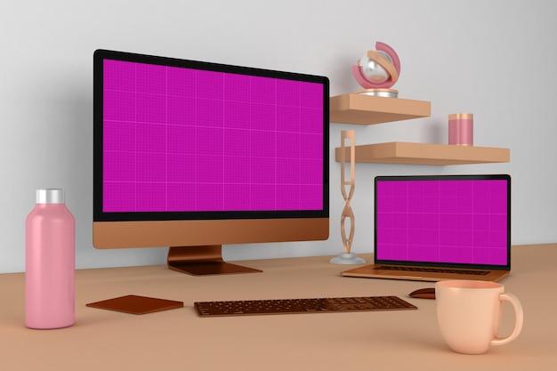 ウェブサイトのデスクトップ