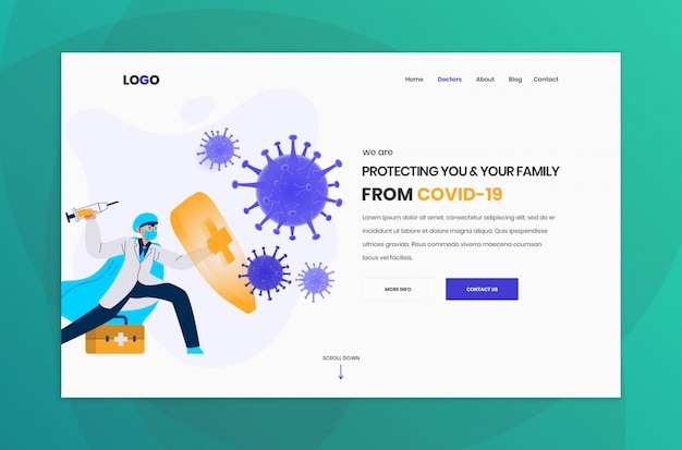 Website header template design