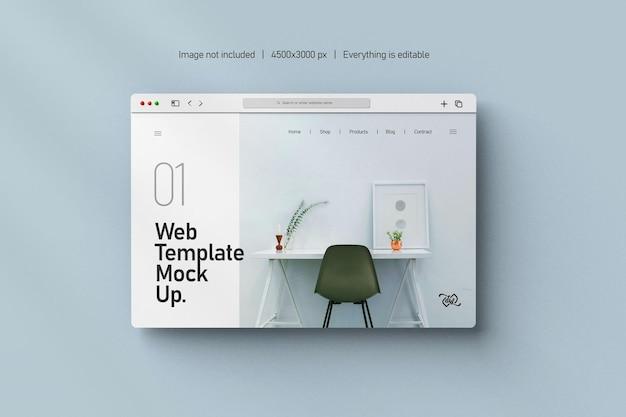 Изолированный макет презентации веб-сайта