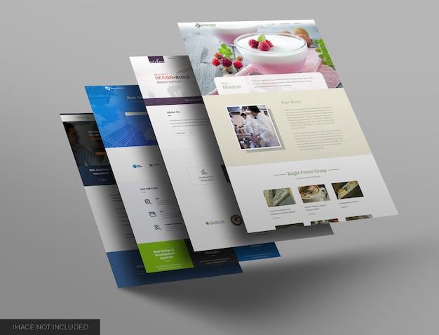 웹 사이트 쇼케이스 모형