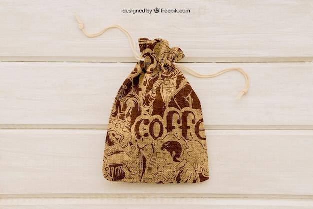 Weddin mock up with cute little sack