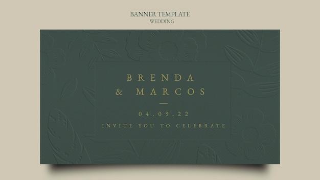 Modello di design per banner di matrimonio