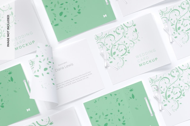 Wedding cards mockup grid layout