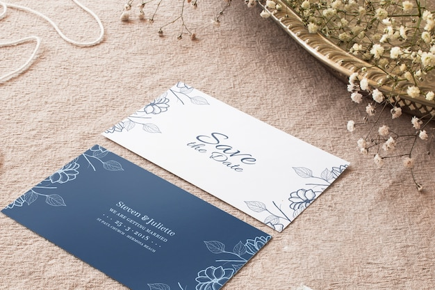 Wedding cards mockup