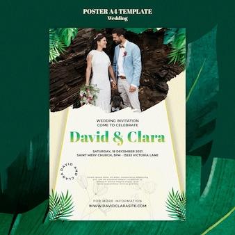 Modello di poster per la celebrazione del matrimonio