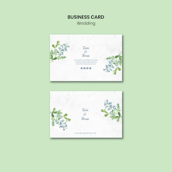 Wedding concept business card template