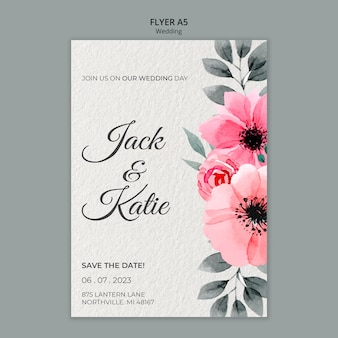Wedding concept flyer template