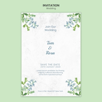 Wedding concept invitation template