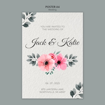 Wedding concept poster template