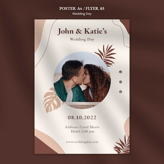 Wedding day poster template