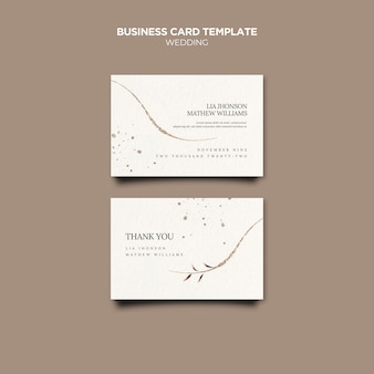 Wedding event business cards template