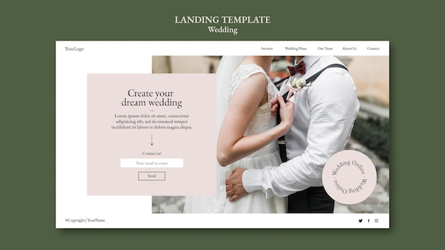 Wedding event landing page template