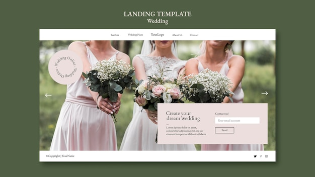 Wedding event landing page